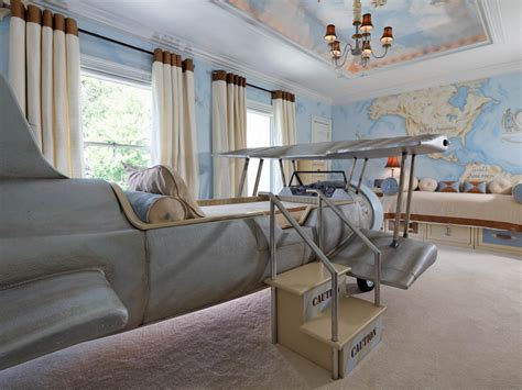 Kids Mini Chandelier Aviation Themed Kids Bedroom Dahlia Mahmood Hgtv