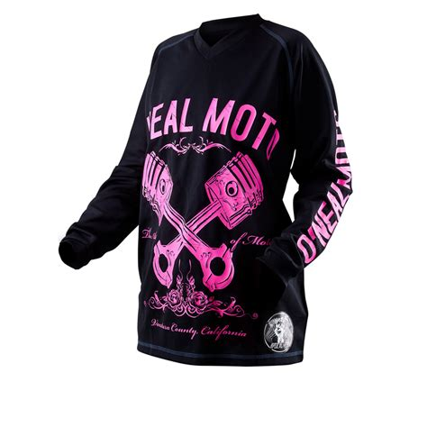 womens motocross jersey oneal apocalypse pistons 2012 womens motocross jersey