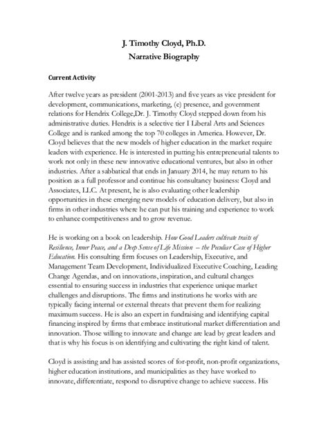 Is Biography A Narrative | narrative biography spring2014