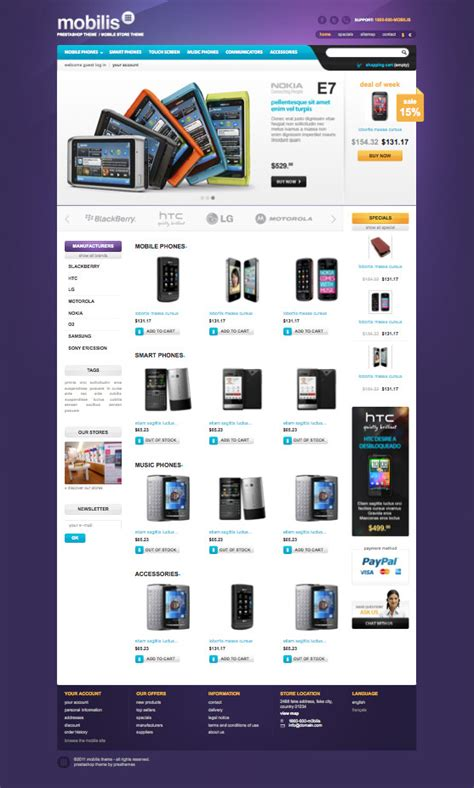 mobile themes prestashop mobile store prestashop theme