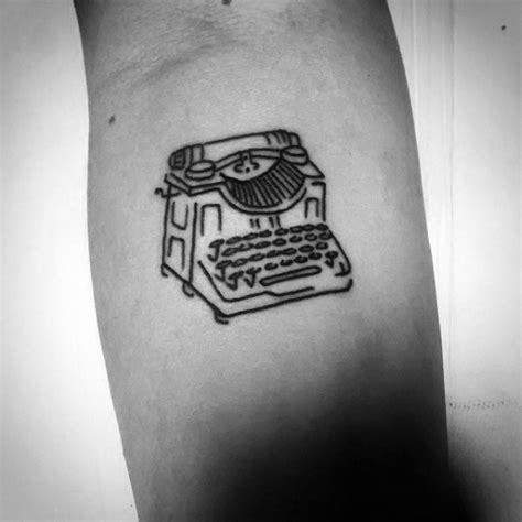 typewriter tattoo 50 typewriter designs for retro ink ideas
