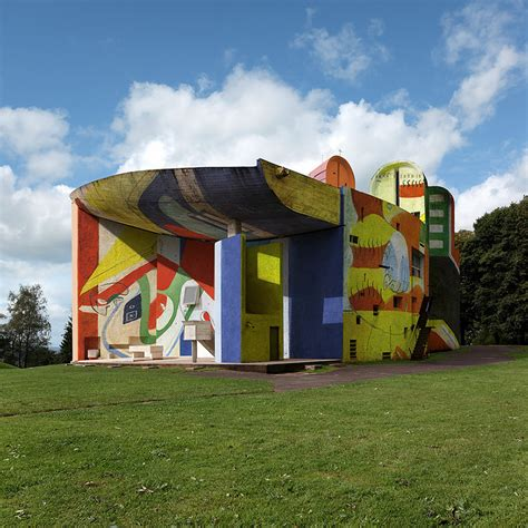 Wall Murals Graffiti xavier delory envisions le corbusier s ronchamp chapel