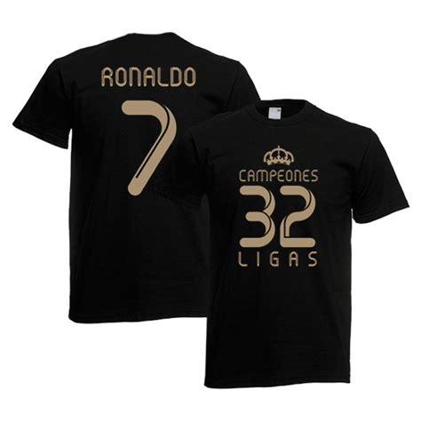 Tshirt Ronaldo Black 2012 real madrid chions t shirt black ronaldo 7