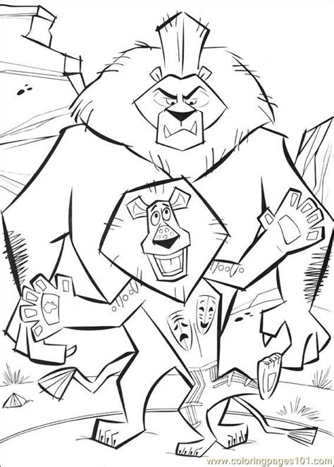 Madagascar 2 Coloring Pages by Coloring Pages Madagascar2 14 Gt Madagascar 2