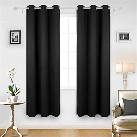 black blackout curtains bedroom deconovo synchkg084779 deconovo room darkening thermal