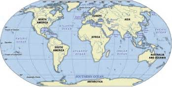 Map Of The World Oceans by Map Of The World World Ocean Map World Ocean Map