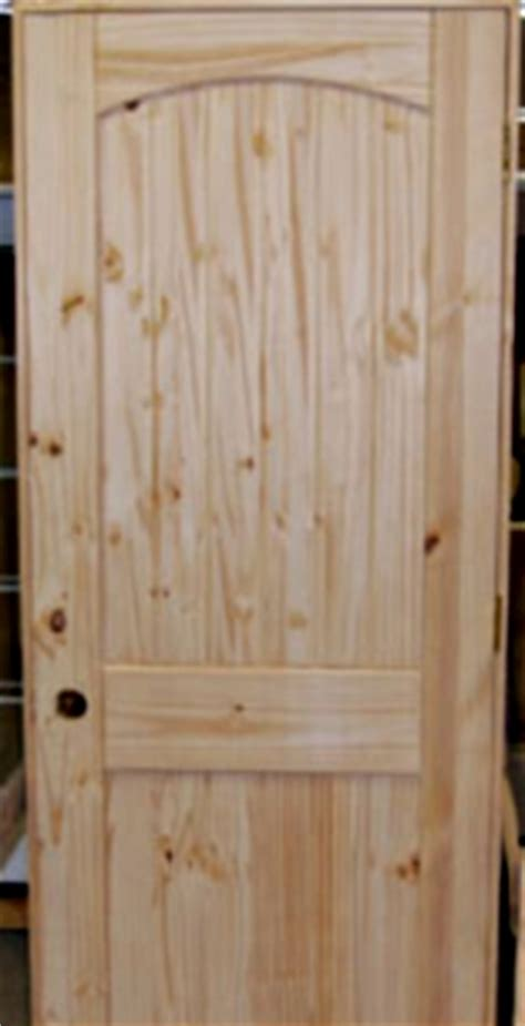Set Of 4 Unfinished Solid Wood Pre Hung Knotty Pine Solid Wood Prehung Interior Doors