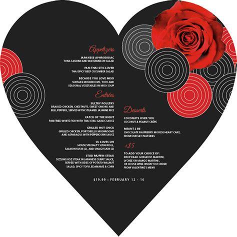 design valentine menu 41 valentines menu templates free psd eps format