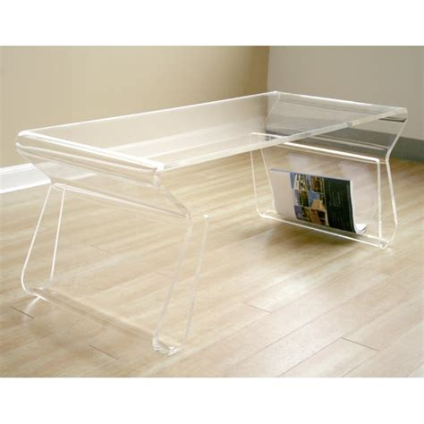 Acrylic Coffee Table Adair Acrylic Coffee Table Free Shipping Today Overstock 11095929