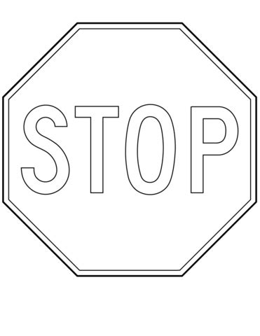 stop sign coloring page canada stop sign coloring page free printable coloring pages