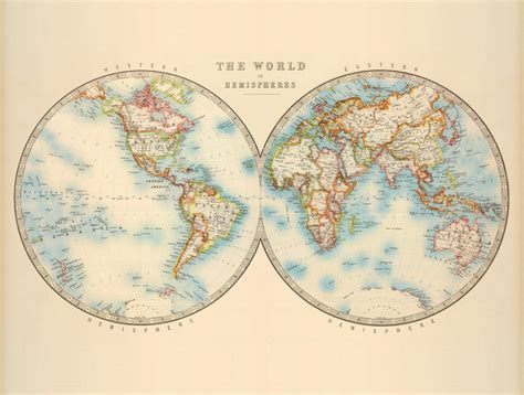 vintage world map antique map of the world vintage world map by ancientshades
