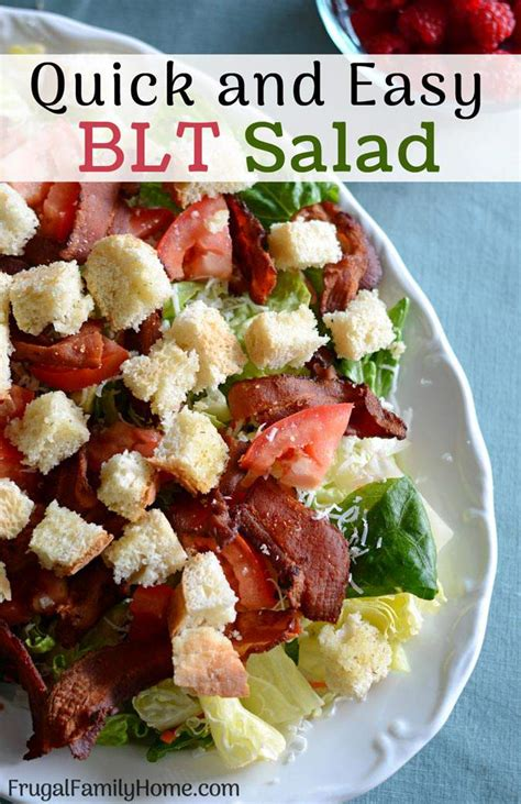 Fast Easy Dinner Salad With Saganaki by Hearty Blt Salad With Croutons