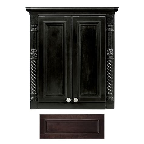 lowes bathroom wall cabinets shop architectural bath versailles java wall cabinet
