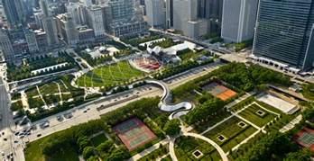 Millennium park chicago viewing gallery