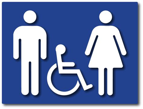 bathroom symbols from ada sign depot all gender restroom symbols only