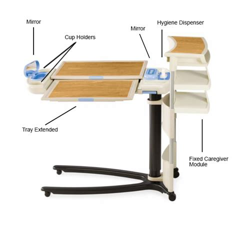 hill rom overbed table overbed tray table hill rom 174 overbed table adaptive