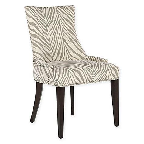 Zebra Dining Chair Safavieh Becca Zebra Dining Chair In Grey Bed Bath Beyond