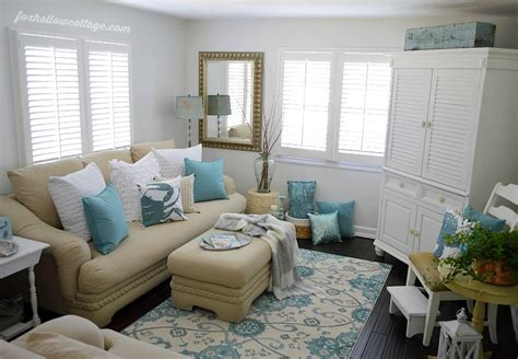 coastal cottage summer living room fox hollow cottage