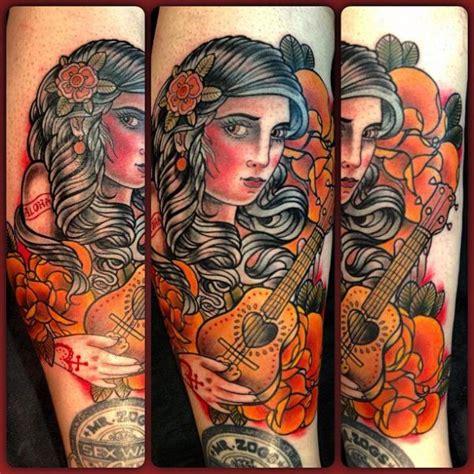 new school gypsy tattoo arm new school gypsy tattoo by mikael de poissy