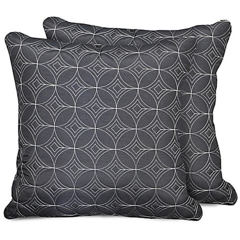decorative pillows for bed clearance park lane faux silk decorative pillow set of 2 www