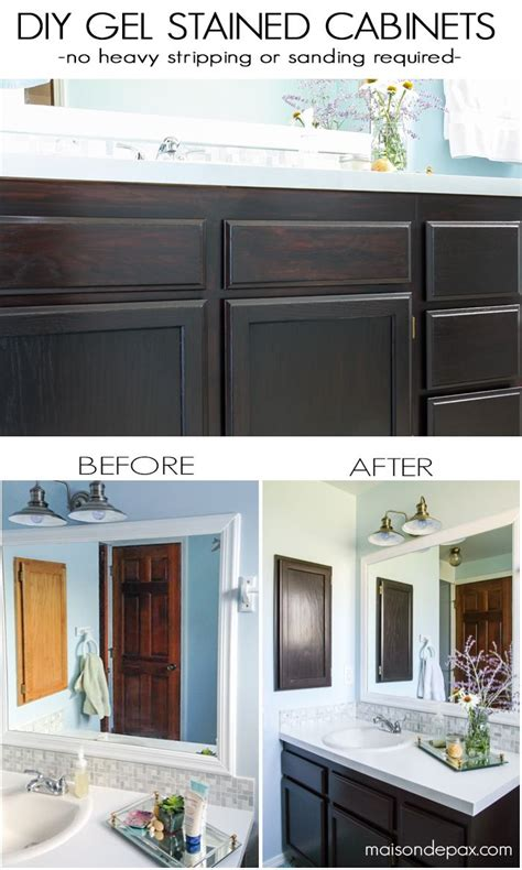 how to strip varnish from cabinets diy gel stain cabinets no heavy sanding or stripping
