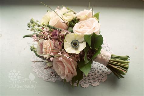 style flower vintage style pink bridal bouquet bouquet of anemones
