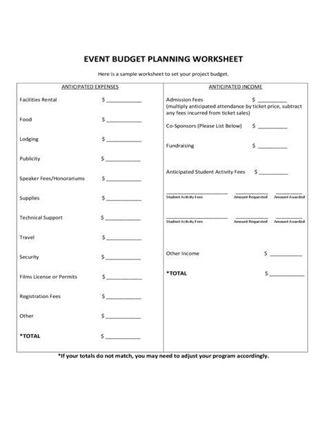 event planning worksheet event planning worksheet event event budget planning worksheet free download