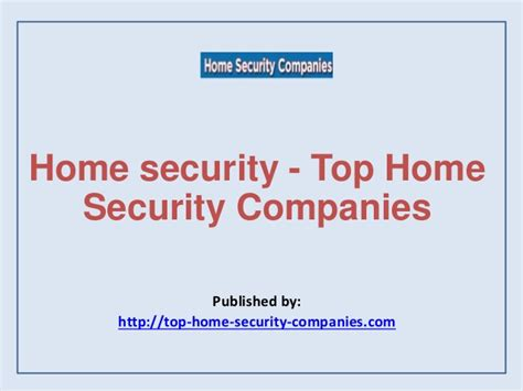 home security top home security companies