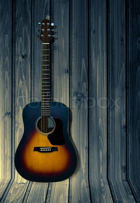 guitar pattern tumblr acoustic guitar isolated on dark wooden background stock