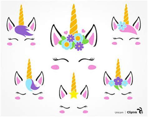 printable unicorn face unicorn face clipart etsy