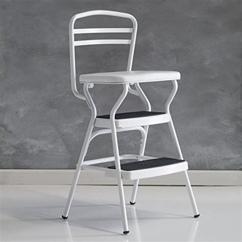 cosco step stool chair parts cosco 11130whte white retro counter chair step stool