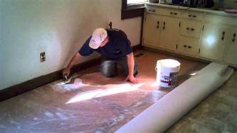 Installing Vinyl Sheet Flooring How To Cut In And Install A Vinyl Floor