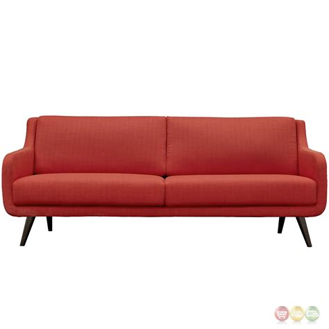 modern wood sofa verve mid century modern upholstered sofa with wood frame