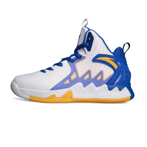 warriors basketball shoes anta kt2 youth golden state warriors home basketball