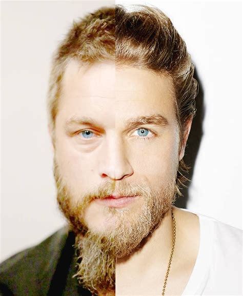 what is going on with travis fimmels hair in vikings travis fimmel vikings charlie hunnam sons of anarchy