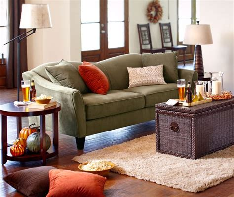 One Sofa Living Room by The Glam Pier 1 Abbie Sofa Combines Lines And