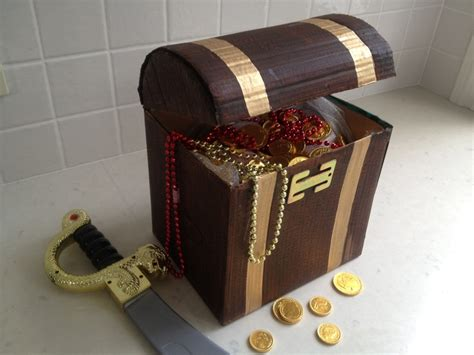 How To Make A Paper Treasure Chest - pirate treasure chest my kid craft