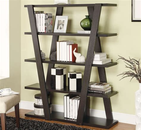 unique wooden bookshelf