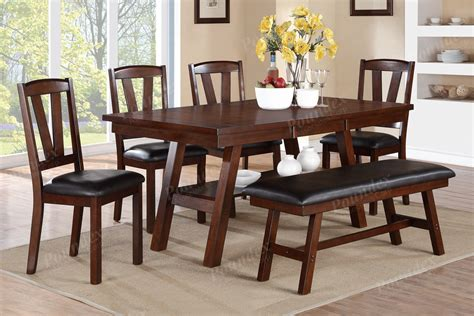 dining table with sofa bench bench benches dining room furniture showroom categories poundex associated