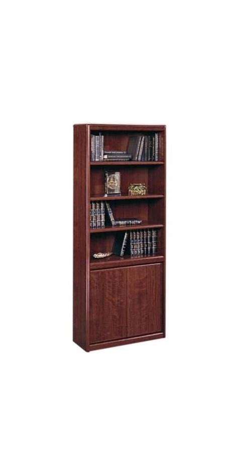 Sauder Bookcase With Glass Doors Barrister Bookcase Glass Doors