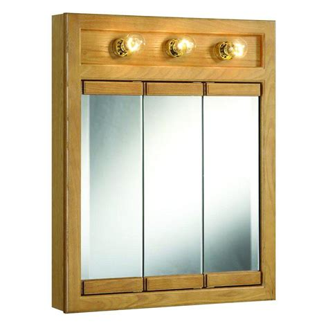 bathroom medicine cabinet with mirror and lights design house richland 24 in w x 30 in h x 5 in d framed