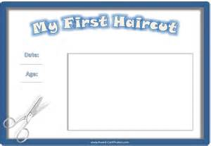 Pin first haircut certificate printable on pinterest
