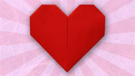 Fold Paper Hearts - how to fold simple paper craft origami hearts step by step