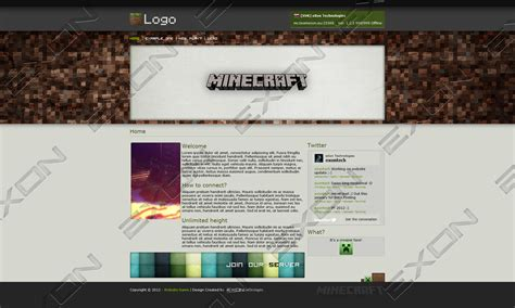 theme google minecraft minecraft html template for sale updated by