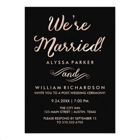 post wedding reception wording exles 10 wedding dinner invitations free sle exle