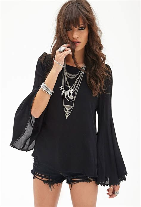 Bell Sleeve Top bell sleeve woven top forever21 2052288965 fashion