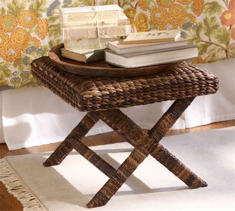 seagrass bench pottery barn seagrass stool pottery barn