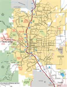 colorado springs area map travel map