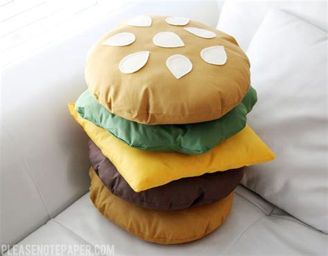 How To Make Shaped Pillow by Diy Buy Food Shaped Pillows Pizza Cheeseburger Cookie