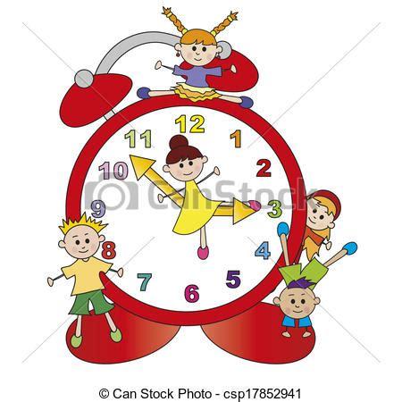 immagini clipart bambini disegno di orologio bambini illustrazione di orologio